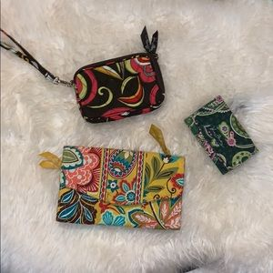 Bundle of 3 Vera Bradley Cardholders